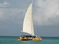 Catamaran sailboat